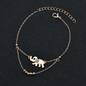 ❤️3for$25/Delicate Elephant Charm Layered Anklet